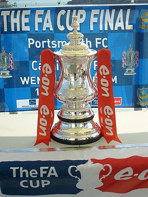 2007–08 FA Cup - The FA Cup on the roof terrace of Portsmouth's Spinnaker Tower on 12 May 2008