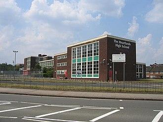 Heartlands Academy - The former building as Heartlands High School in 2006