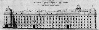 Hofburg, Innsbruck - Hofburg after the Baroque reconstruction, 1779
