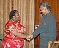 The Home Minister of South Africa, Ms. Nosiviwe Mapisa-Nqakula calls on the Union Home Minister, Shri Shivraj V. Patil, in New Delhi on September 06, 2007.jpg