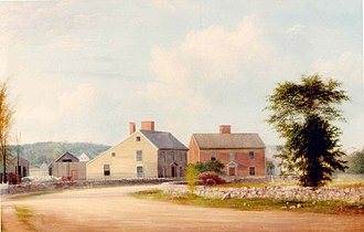 John Adams Birthplace - Image: The John Adams Birthday and the John Quincy Adams Birthplace