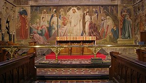 Lyndhurst, Hampshire - The Leighton Fresco, St Michael and All Angels church