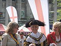 The Lord Mayor of Nottingham, on St George's Day in Nottingham's Old Market Square.jpg
