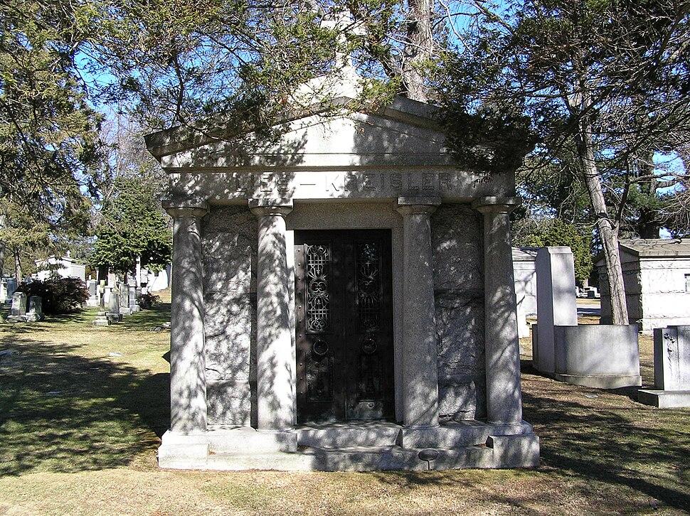 The Mausoleum of Fritz Kreisler in Woodlawn Cemetery