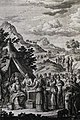 The Phillip Medhurst Picture Torah 443. Breaking golden earrings. Exodus cap 32 v 2. Heuman.jpg