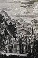The Phillip Medhurst Picture Torah 443. Breaking golden earrings. Exodus cap 32 v 2. Heuman.jpg