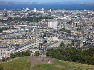 Pilrig - The Pilrig area from the Calton Hill