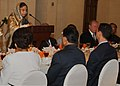 The President, Smt. Pratibha Devisingh Patil addressing at the Banquet, hosted by the President of Syria, at Presidential Palace, Damascus, in Syria on November 27, 2010.jpg