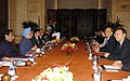 The Prime Minister, Dr. Manmohan Singh Bilateral meeting with the Chinese Prime Minister Mr. Wen Jiabao, on the sideline of 6th India-ASEAN & 3rd East Asia Summit, in Singapore on November 21, 2007.jpg
