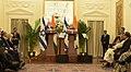 The Prime Minister, Shri Narendra Modi and the Prime Minister of Israel, Mr. Benjamin Netanyahu during Press Statement, at Hyderabad House, in New Delhi on January 15, 2018 (4).jpg