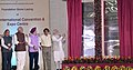 The Prime Minister, Shri Narendra Modi laying the foundation stone of the India International Convention and Expo Centre, at Dwarka, New Delhi.JPG