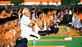 The Prime Minister, Shri Narendra Modi participates in the mass yoga demonstration, on the occasion of the 4th International Day of Yoga 2018, at the Forest Research Institute, in Dehradun, Uttarakhand on June 21, 2018 (4).JPG
