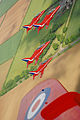 The Red Arrows practice a display over their home base of RAF Scampton in Lincolnshire. MOD 45147900.jpg