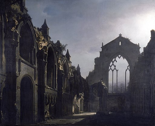 The Ruins of Holyrood Chapel (Louis Daguerre), 1824 (Google Art Project)