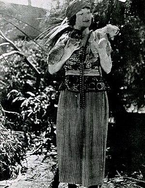 Karla Schramm - Schramm in still for The Son of Tarzan (1920)