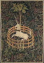The Unicorn in Captivity, one of the series of seven tapestries The Hunt of the Unicorn