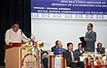 The Union Minister for Tribal Affairs, Shri Jual Oram addressing a function organised by the Social Justice, Welfare Department, Sikkim, in Gangtok on May 30, 2016.jpg