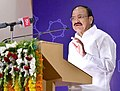 The Vice President, Shri M. Venkaiah Naidu addressing the gathering after inaugurating the Platinum Jubilee Celebrations of CSIR-IICT (Indian Institute of Chemical Technology), in Hyderabad on August 05, 2018.JPG