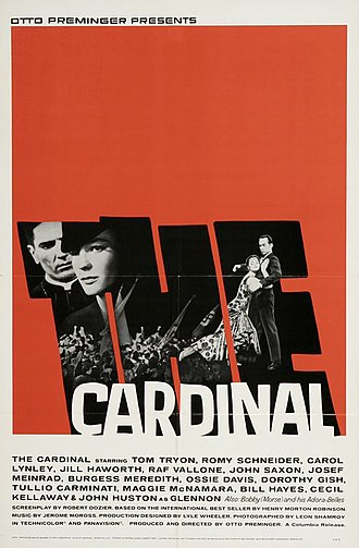 The Cardinal - Promotional poster by Saul Bass