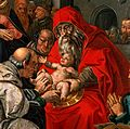 The circumcision of Christ. Oil painting after Hendrik Goltz Wellcome V0017407.jpg