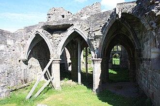 Balmerino Abbey - The cloisters of  Balmerino Abbey