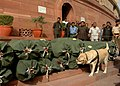 The documents of General Budget 2012-13 brought in the Parliament House premises under security, in New Delhi on March 16, 2012.jpg
