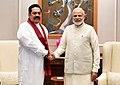 The former President of Sri Lanka, Mr. Mahinda Rajapaksa meeting the Prime Minister, Shri Narendra Modi, in New Delhi on September 12, 2018 (1).JPG