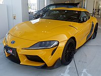 The frontview of Toyota GR Supra RZ (3BA-DB42-ZRRW) with GR PARTS.jpg