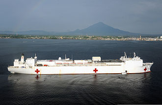 Primary healthcare - Image: The hospital ship USNS Mercy (T AH 19) June 6, 2012, in Manado, Indonesia, during Pacific Partnership 2012 120606 N CW427 402