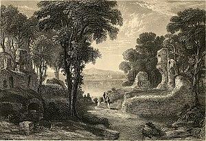 Lochmaben - Lochmaben Castle in a 1886 etching