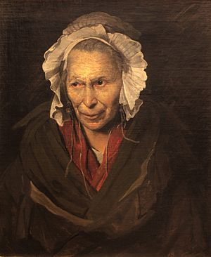 Envy - Portrait of a demented woman or The monomaniac of jealousy (also named The Hyena of la Salpêtrière), by Théodore Géricault, c. 1819-1822, Museum of Fine Arts of Lyon