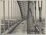 The middle of the Sydney Harbour Bridge looking north, 1932 (8282688939).jpg