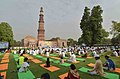 The participants in the mass performance of Common Yoga Protocol, on the occasion of the 4th International Day of Yoga -2018, at Qutub Minar Complex, in New Delhi on June 21, 2018 (1).JPG
