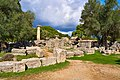 The ruins of the Temple of Zeus in Olympia on October 14, 2020.jpg