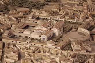Baths of Trajan - A modern reconstruction of the complex.