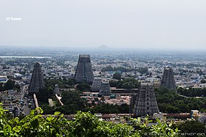 Annamalaiyar Temple - Image: Thiruvannamalai temple hill view