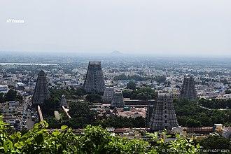 Annamalaiyar Temple - Image: Thiruvannamalai temple hill view