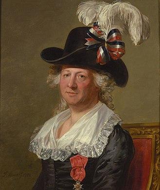 Chevalier d'Éon - Portrait of d'Éon by Thomas Stewart (1792), at the National Portrait Gallery