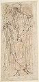 Three Standing Male Figures (recto); Two Standing Male Figures (verso) MET DP809171.jpg