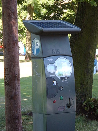 Stand-alone power system - Image: Ticket Parking Meter