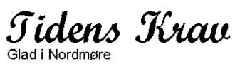 Tidens Krav - Image: Tidens Krav logo