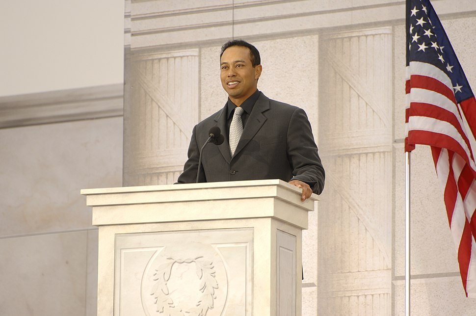 Tiger Woods speaks at We Are One