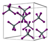 Ball-and-stick model of the unit cell of tin tetraiodide