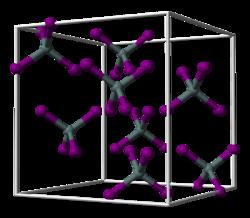 Strukturformel von Zinn(IV)-iodid