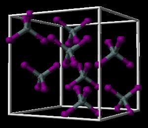 Zirconium(IV) bromide - Image: Tin tetraiodide unit cell 3D balls