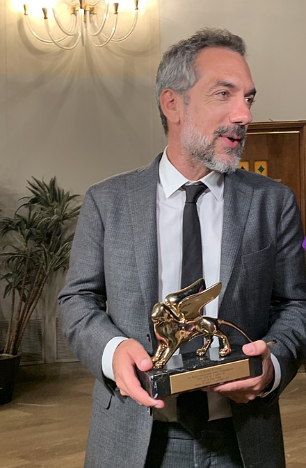 Todd Phillips with the Golden Lion won by his film Joker at the 2019 edition. Todd Philips Venezia 2019.jpg