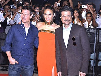 Paula Patton - Patton with Tom Cruise and Anil Kapoor at the screening of Mission Impossible - Ghost Protocol in 2011