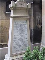 Tombe de Baudelaire au cimetière du Montparnasse