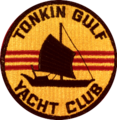 Tonkin Gulf Yacht Club emblem (United States Navy), in the 1960s (NH 85751-KN).png