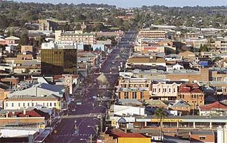 City of Toowoomba - City CBD Looking South
